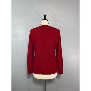 Lord & Taylor Sweaters - LORD & TAYLOR | Red V Neck 100% Cashmere Sweater M